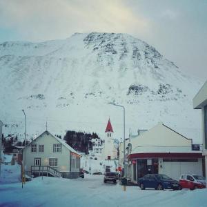 Siglufjörður beset by snow