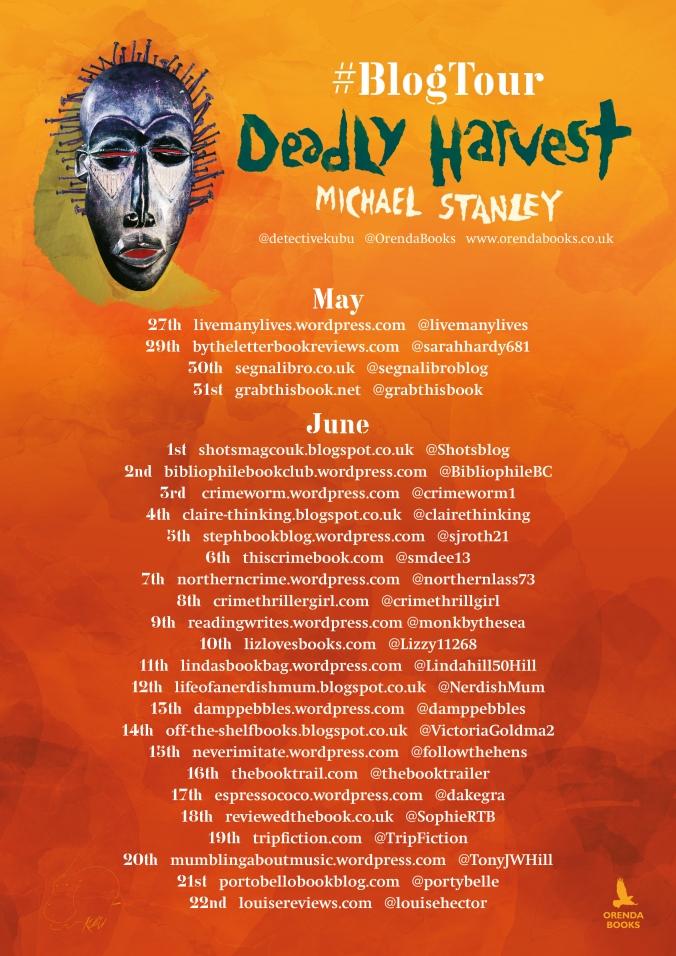 Deadly Harvest Blog tour